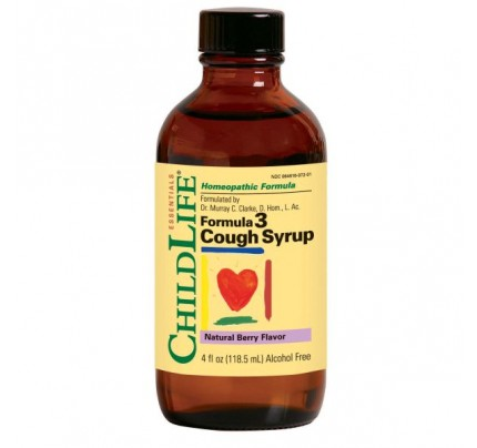Formula 3 Cough Syrup Alcohol-Free Natural Berry 4oz.