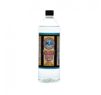 Copper Ionic Mineral Water Extra Strength 4x Concentrate 300 ppm 32 fl. oz.