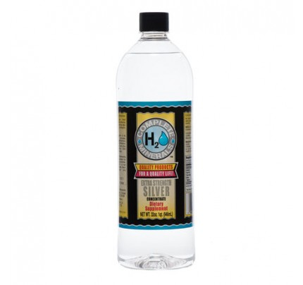 Silver Ionic Mineral Water Extra Strength 4x Concentrate 400 ppm 32 fl. oz.
