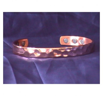 Positive Energy Copper 3 Magnet Bracelet Hand Hammered Texture
