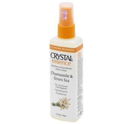 Mineral Deodorant Body Spray Chamomile & Green Tea 4oz.