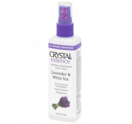 Mineral Deodorant Body Spray Lavender & White Tea 4oz.