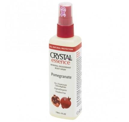 Mineral Deodorant Body Spray Pomegranate 4oz.