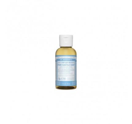 Organic 18-in-1 Hemp Pure Castile Liquid Soap Unscented Baby Mild 2 fl. oz.