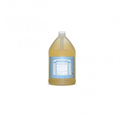 Organic 18-in-1 Hemp Pure Castile Liquid Soap Unscented Baby Mild Gallon