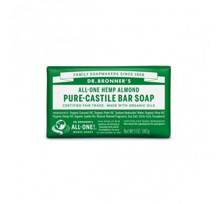 Organic Hemp Pure Castile Bar Soap Almond 5 oz.