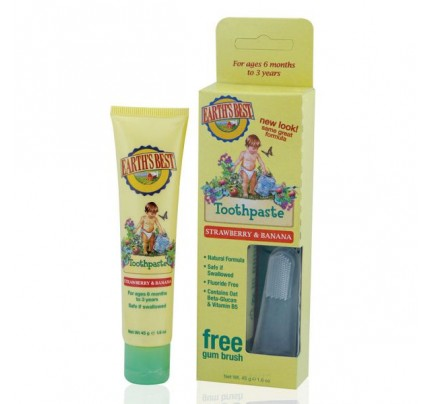 Toddler Toothpaste & Gum Brush Strawberry & Banana 1.6oz.