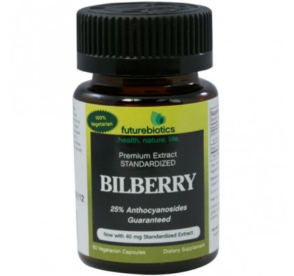 Bilberry 125mg Complex 25mg Standardized Extract 60 Capsules