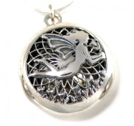 Aromatherapy Jewelry - Scent Chamber Fairy, sterling silver