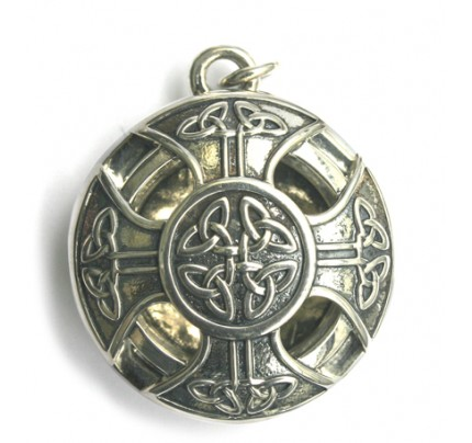 Aromatherapy Jewelry - Scent Chamber Celtic Cross Sterling Silver