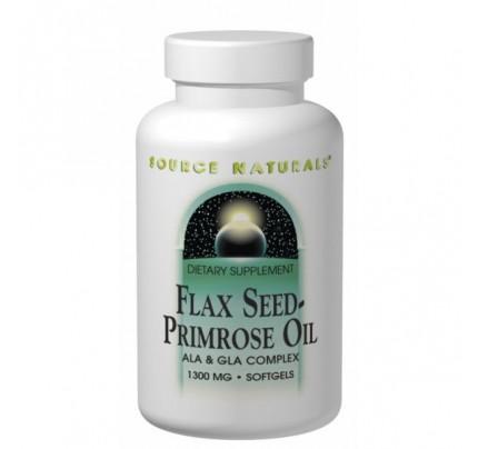 Flax Seed-Primrose Oil 1,300mg Softgels