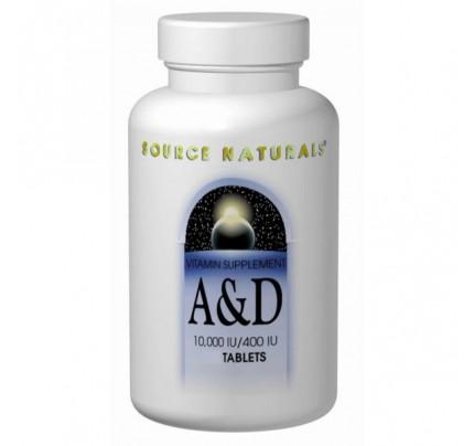 Vitamin A & D 10,000/400 IU Tablets