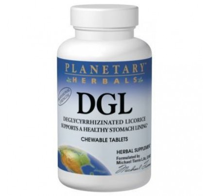 Licorice DGL Deglycyrrhizinated Chewable 380mg Tablets
