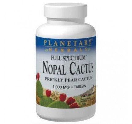 Nopal Prickly Pear Cactus, Full Spectrum 1,000mg Tablets