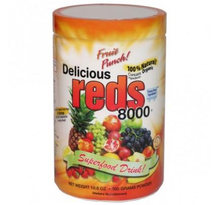 Delicious Reds 8000 Fruit Punch Flavor 10.6 oz.
