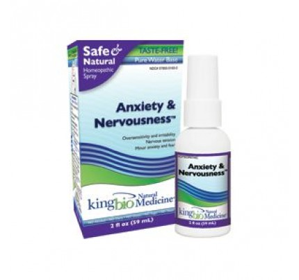 Homeopathic Anxiety & Nervousness 2oz.