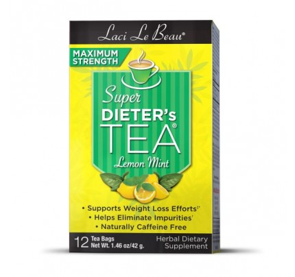 Super Dieter's Tea Max Strength Lemon Mint Botanicals 12 Teabags