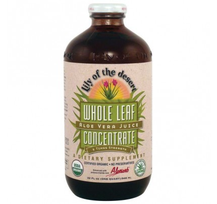 Organic Aloe Vera Juice Whole Leaf Concentrate 32 fl. oz.