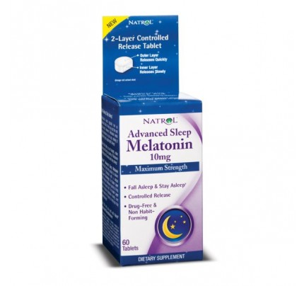 Advanced Sleep Melatonin 10 mg 60 Tablets