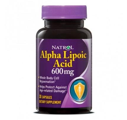 Alpha Lipoic Acid 600mg 30 Capsules