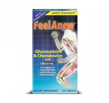 FeelAnew Glucosamine & Chondroitin with Nexrutine 120 Tablets