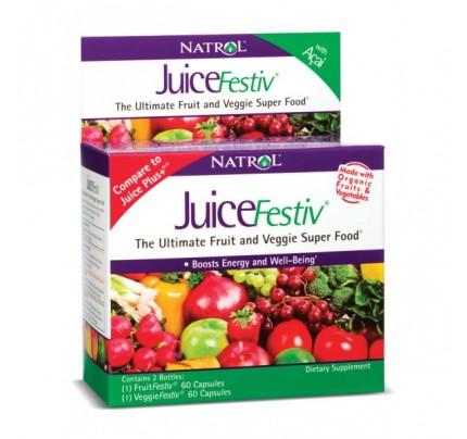 JuiceFestiv 60+60 2 Bottles 120 Capsules