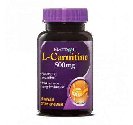 L-Carnitine 500mg 30 Capsules