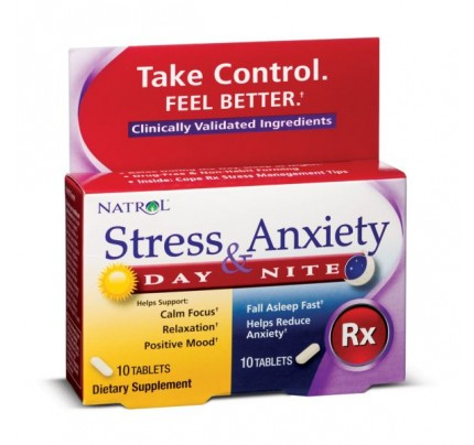 Stress & Anxiety Day & Nite Formulas 10 Packets 20 Tablets