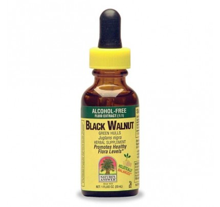 Black Walnut Hulls Alcohol-Free Extract 1oz.