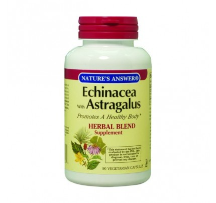 Echinacea Root with Astragalus Root 475mg 90 Capsules