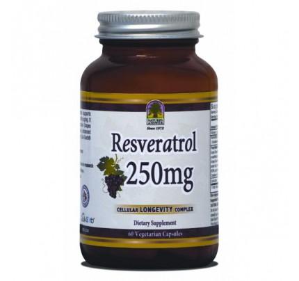 Resveratrol 250mg 60 Vegetarian Capsules