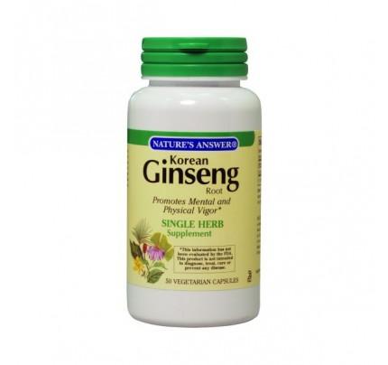 Ginseng Root Korean 500 mg 50 Vegetarian Capsules