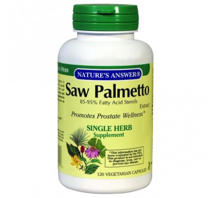 Saw Palmetto Berry Standardized Extract 640mg 120 Vegetarian Capsules