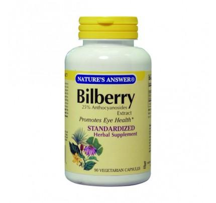 Bilberry Standardized 80mg 90 Vegetarian Capsules