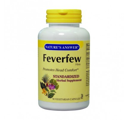 Feverfew Herb Standardized 250mg 90 Vegetarian Capsules
