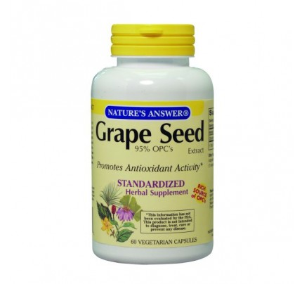Grape Seed Extract 95% OPC Standardized 150mg 60 Vegetarian Capsules