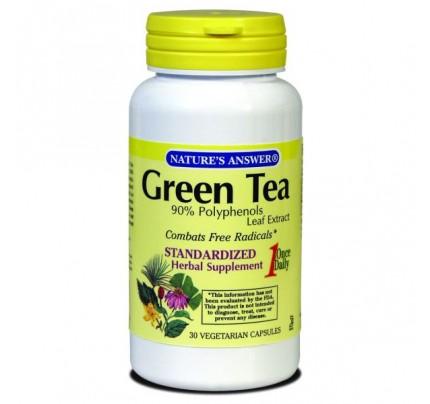 Green Tea Leaf Standardized 170mg 30 Vegetarian Capsules