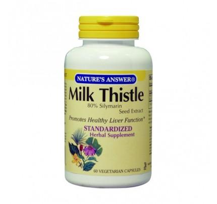 Milk Thistle Seed Standardized 175mg 60 Vegetarian Capsules