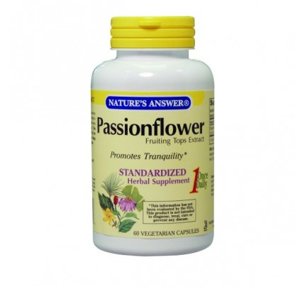 Passion Flower Standardized 250mg 60 Vegetarian Capsules