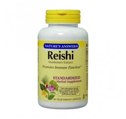 Reishi Mushroom Standardized 500mg 60 Vegetarian Capsules