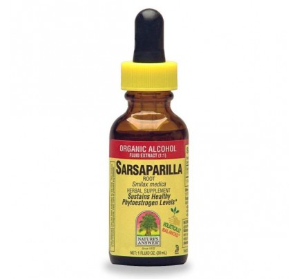 Sarsaparilla Root Low Organic Alcohol Extract 1oz.