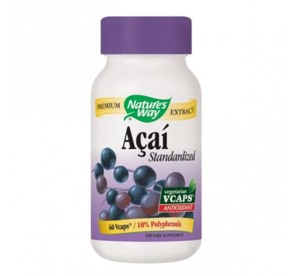 Acai Standardized 520mg 60 Vegetarian Capsules