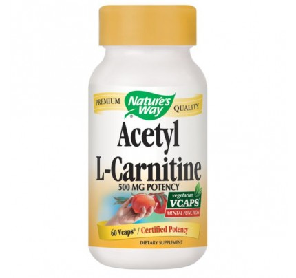Acetyl L-Carnitine 500mg 60 Vegetarian Capsules