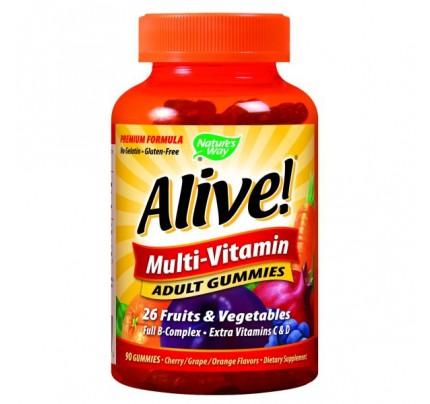 Alive! Adult Multivitamin Gummy 90 Gummies