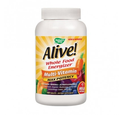 Alive! Max Potency Multivitamin with Iron 180 Tablets