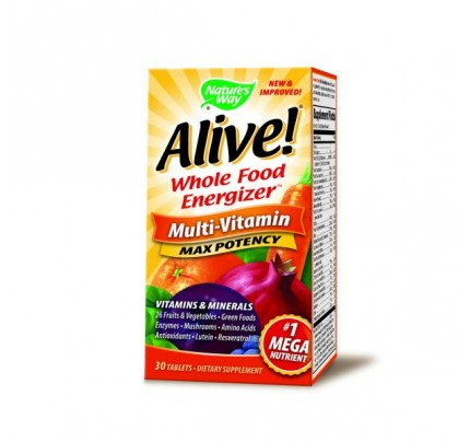 Alive! Max Potency Multivitamin with Iron 30 Tablets
