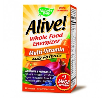 Alive! Max Potency Multivitamin with Iron 90 Tablets