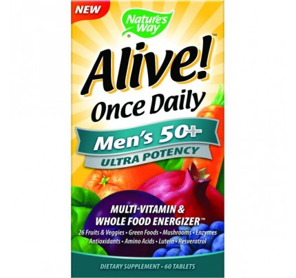 Alive Once Daily Mens 50+ Ultra 60 Tablets