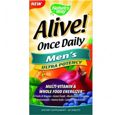 Alive! Once Daily Men's Ultra 60 Tablets