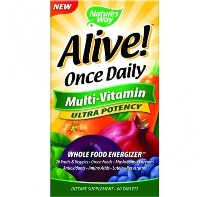 Alive! Once Daily Ultra 60 Tablets